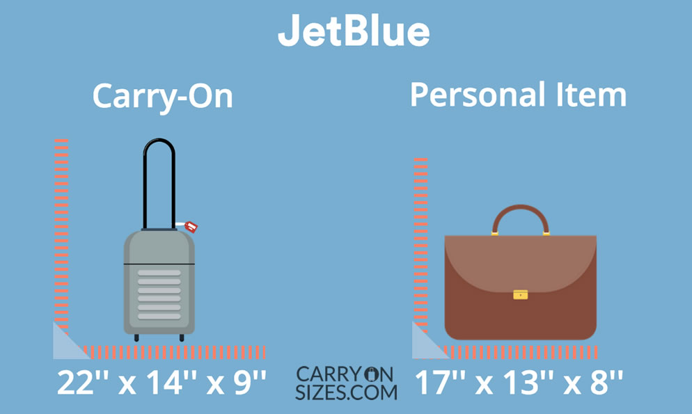 Jetblue Carry On Size Limits Restrictions Guide 2021 Carry On Sizes